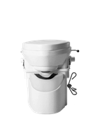 Nature's Head Composting Toilet with Foot Spider Handle composting toilet, waterless toilet, self-contained toilet