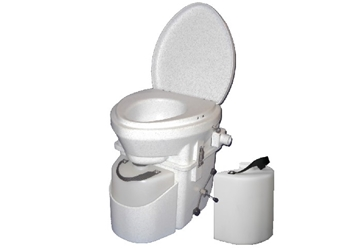 Natures Head Composting Toilet with Spider Handle and Extra Liquids Bottle