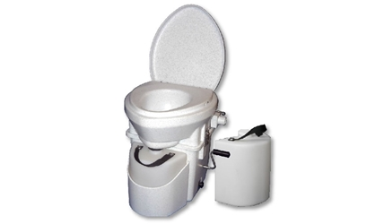 Natures Head Composting Toilet with Standard Handle with EXTRA LIQUIDS BOTTLE