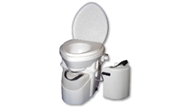Nature's Head Composting Toilet with Standard Handle with EXTRA LIQUIDS BOTTLE