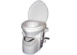 Nature's Head Composting Toilet with Standard Handle urine diverting toilet, composting toilet, affordable composting toilet,