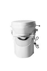 Natures Head Composting Toilet with Foot Spider Handle composting toilet, waterless toilet, self-contained toilet